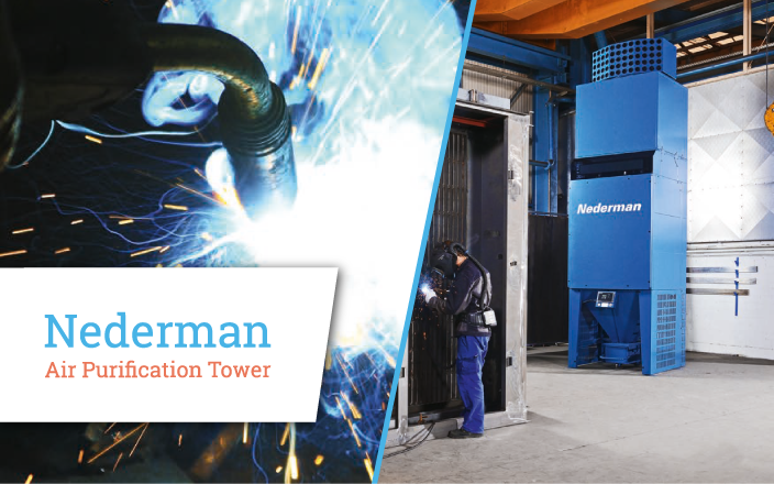 Nederman air purification tower - TECA Oy